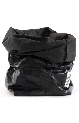 UASHMAMA® Paper Bag Black / Black