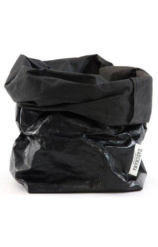 UASHMAMA® Paper Bag Black / Black