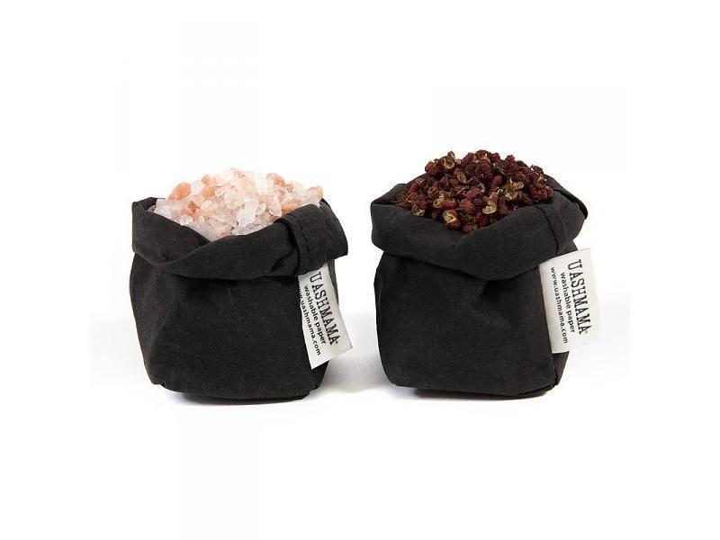 uashmama sac de papier noir uashmama benelux washable paper bags wasbaar papier. Black Bedroom Furniture Sets. Home Design Ideas