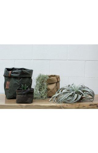 UASHMAMA® Paper Bag Square Tec D. Green