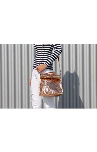 UASHMAMA® Lunch Bag + Handle Metallic
