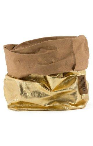UASHMAMA® Paper Bag Gold/Naturel