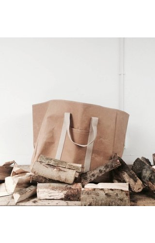 UASHMAMA® Wood Bag Naturel