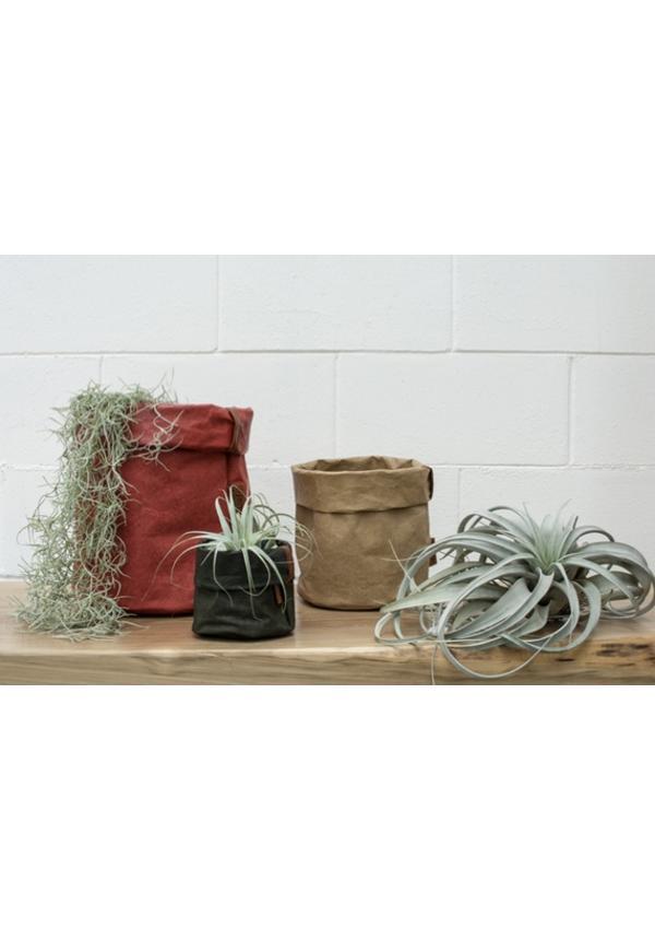 Round Paper Bag Tec Natural