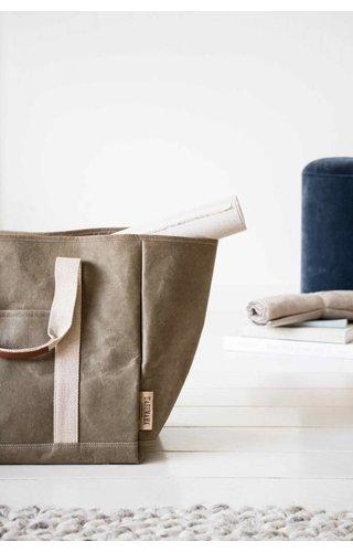 UASHMAMA® Wood Bag Olive