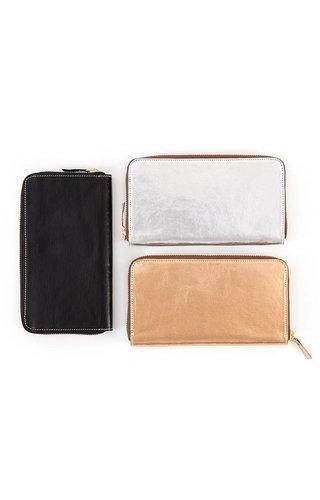 UASHMAMA® White Wallet Zip Metallic
