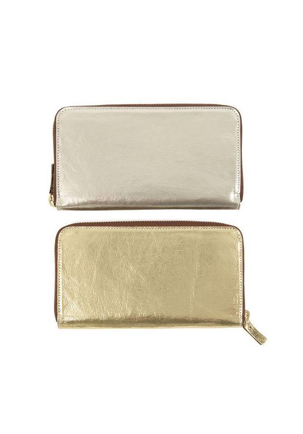 Vita Wallet Zip Metallic