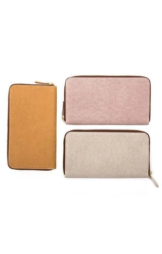 UASHMAMA® White Wallet Zip B / C
