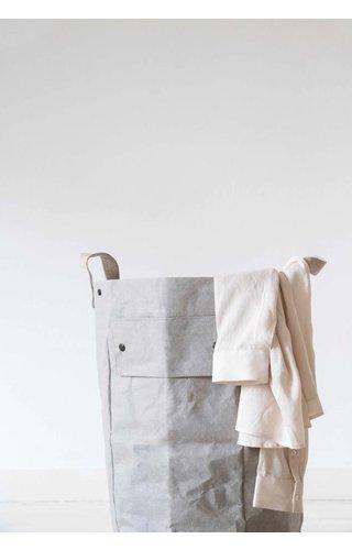 UASHMAMA® Sac à linge gris