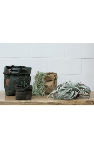 UASHMAMA® Paper Bag Square Tec Gray