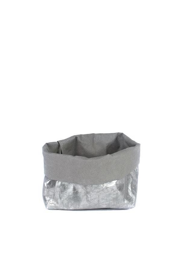 Sac en papier Nuvola Gris / Argent