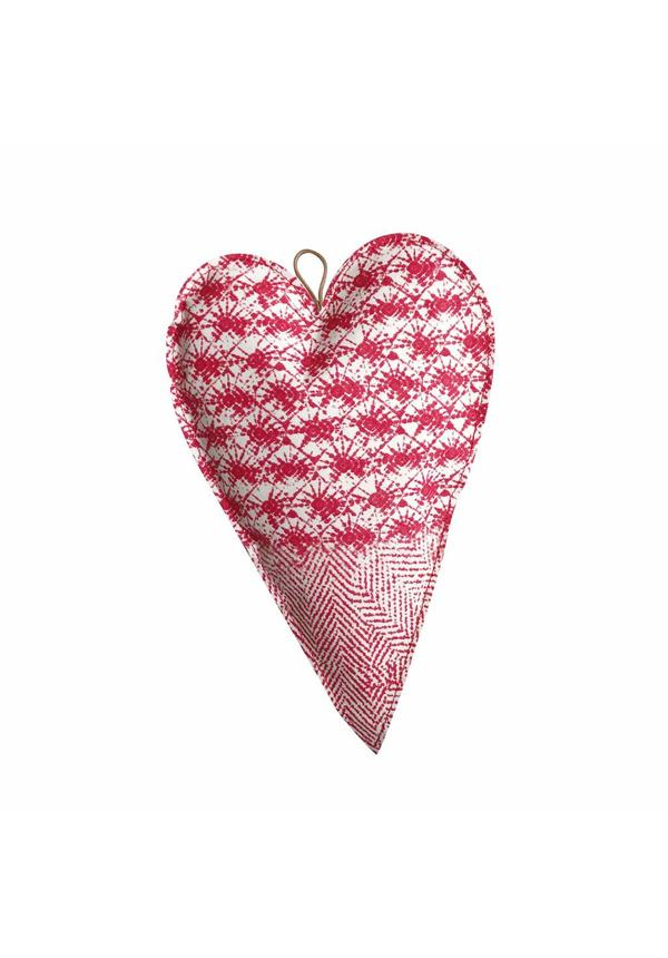 Deco Heart Large Print White/Toscana