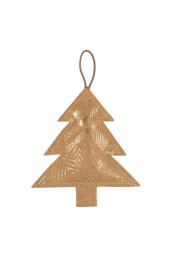 Deco Tree Print Small Avana/Gold
