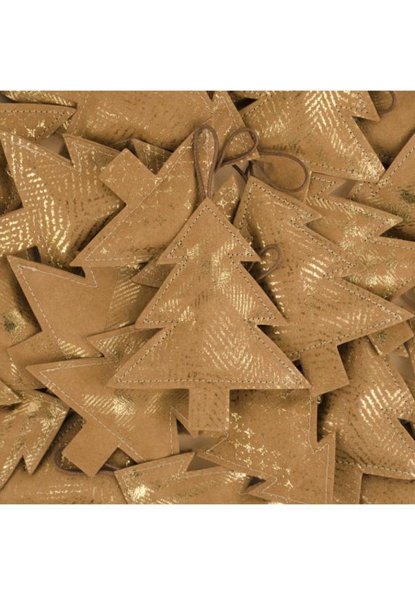 Deco Tree Print Small Avana/Gold