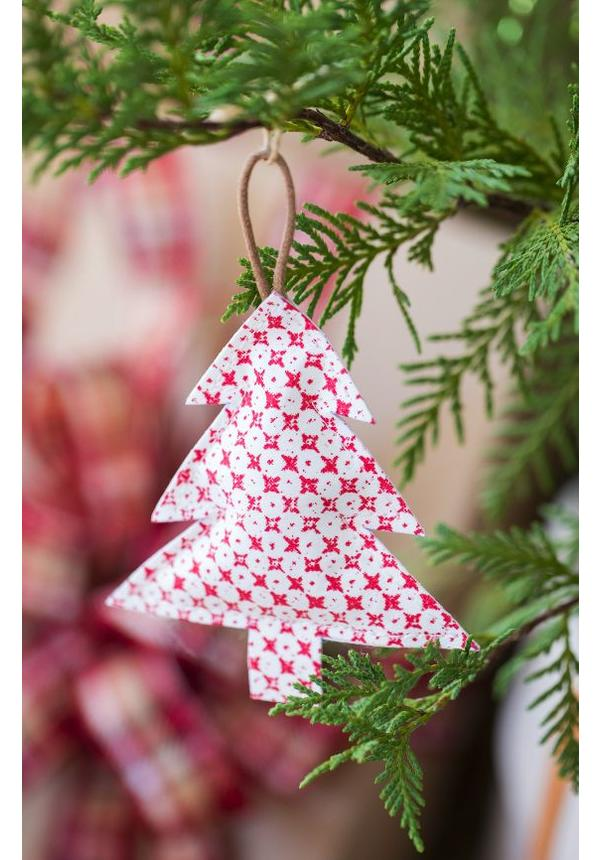 Deco Tree Print Small White/Toscana