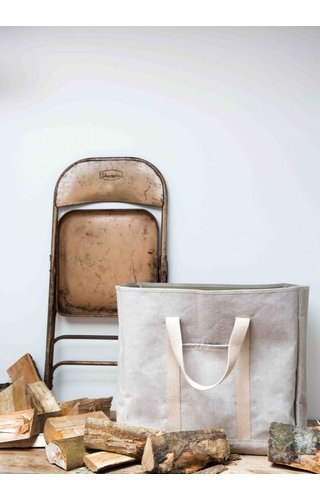 UASHMAMA® Wood Bag Grey