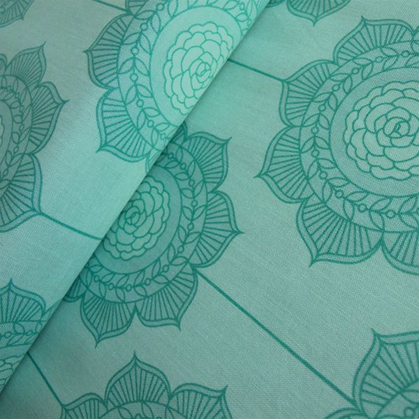 Riley Blake Cottage Wallpaper Teal