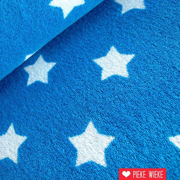 Spons met sterren blauw