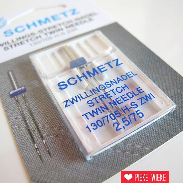Schmetz Machinenaalden tweelingnaald stretch 2,5/75