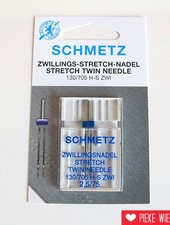 Schmetz Machinenaalden tweelingnaald stretch 2,5/75