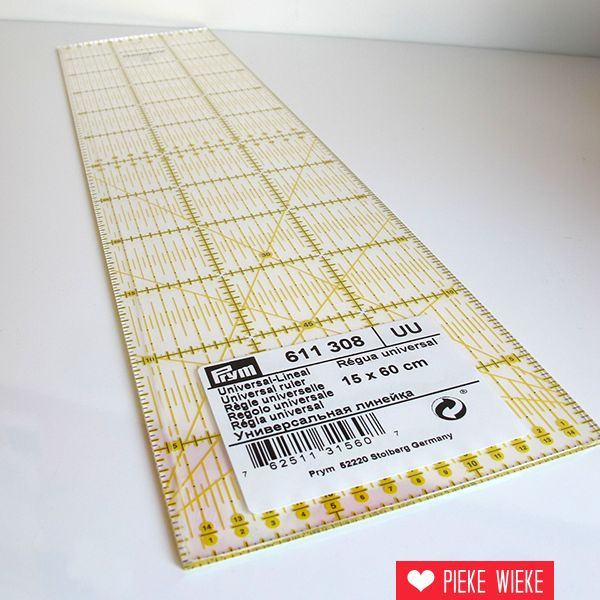 Prym Omnigrid Liniaal voor rolmes 15x60cm