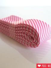 Biais met streepjes, roze, 2 meter