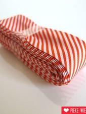 Biais met streepjes, oranje, 2 meter