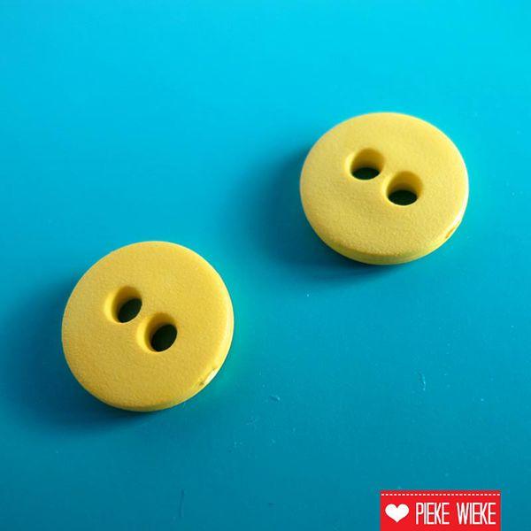 Geel knoopje 12mm