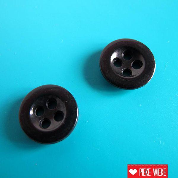 Zwarte knoop 14mm