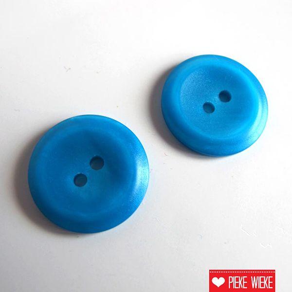 Knoop blauw 18mm