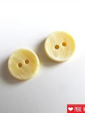 Pastel geel knoopje 12mm