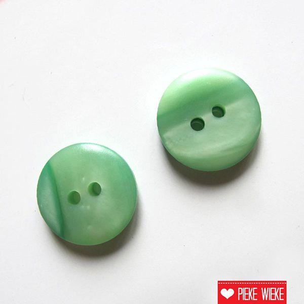 Pastel groen knoopje 15mm