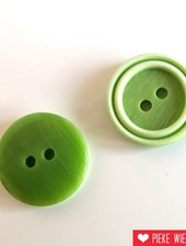 Oud groene knoop 15mm