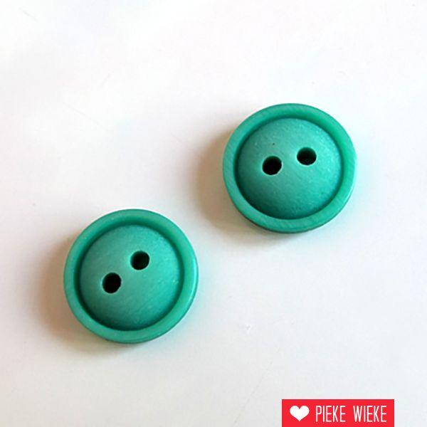 Smaragd groen knoopje 13mm