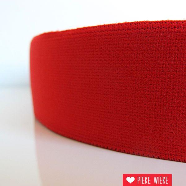 Zachte elastiek Rood 40mm
