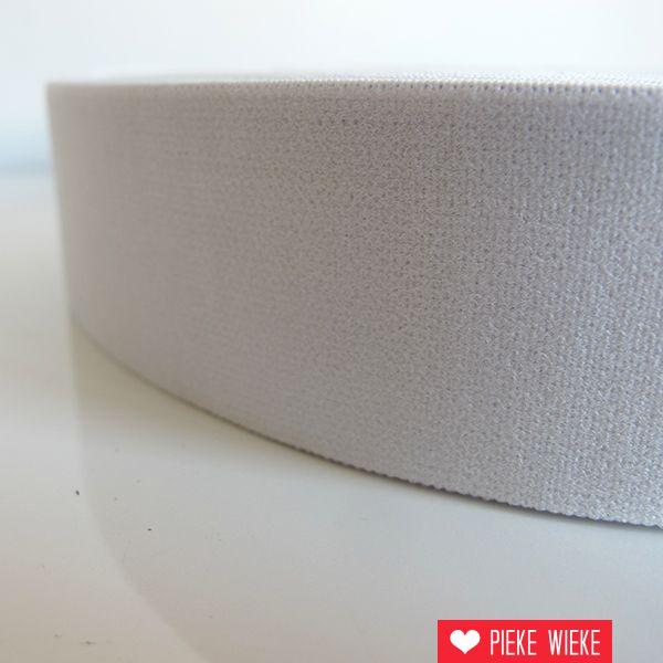 Zachte elastiek Wit 40mm
