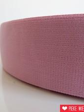 Zachte elastiek Pastel roze 40mm