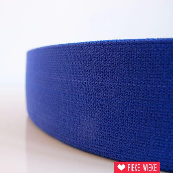 Zachte elastiek kobaltblauw 40mm