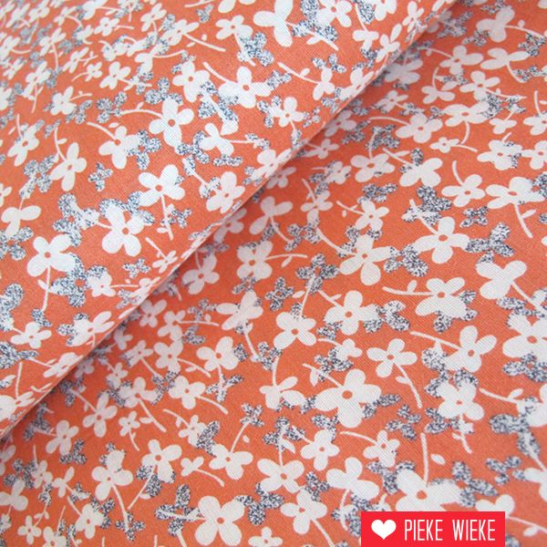 Viscose flowers coral