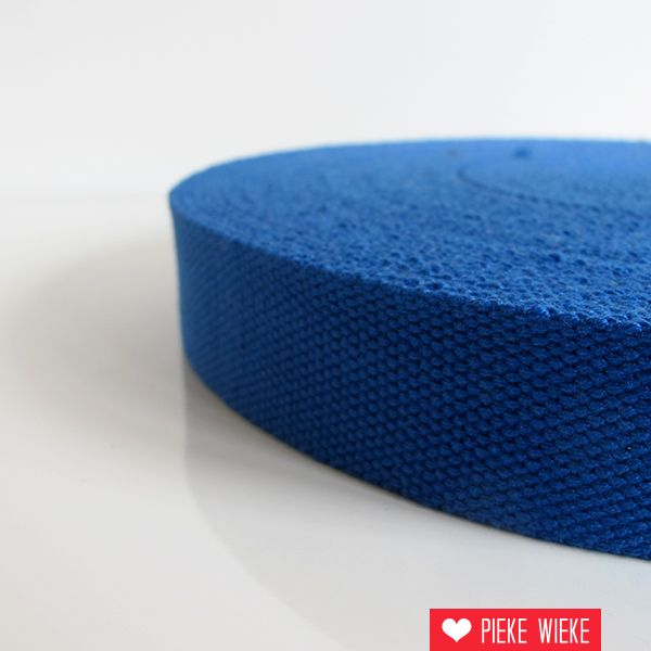 Tassenband kobaltblauw 32mm