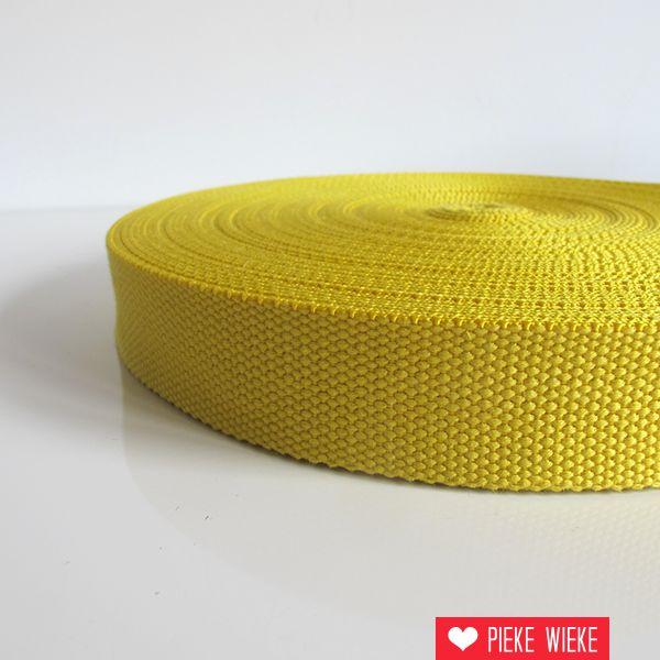 Tassenband geel 32mm