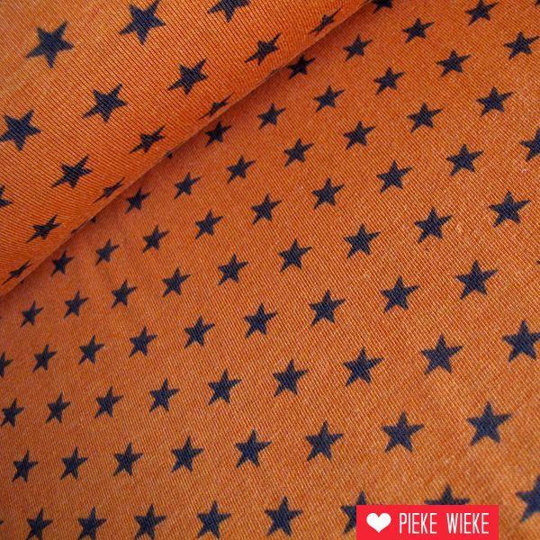 Tricot oranje met sterren