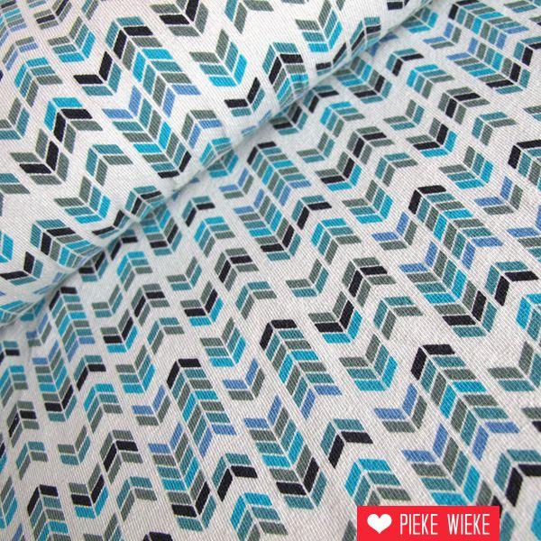 Tricot Indian print mint