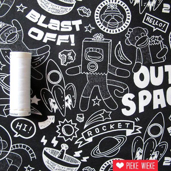 Windham Fabrics Sock Monkeys in Space