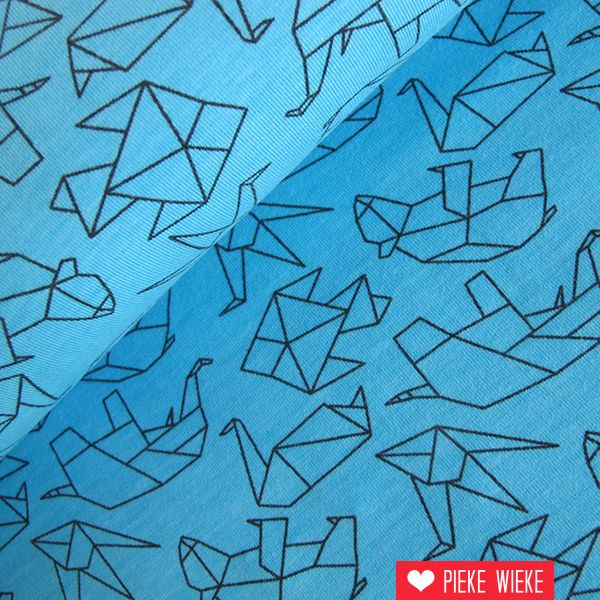 Tricot Animal Origami Azul