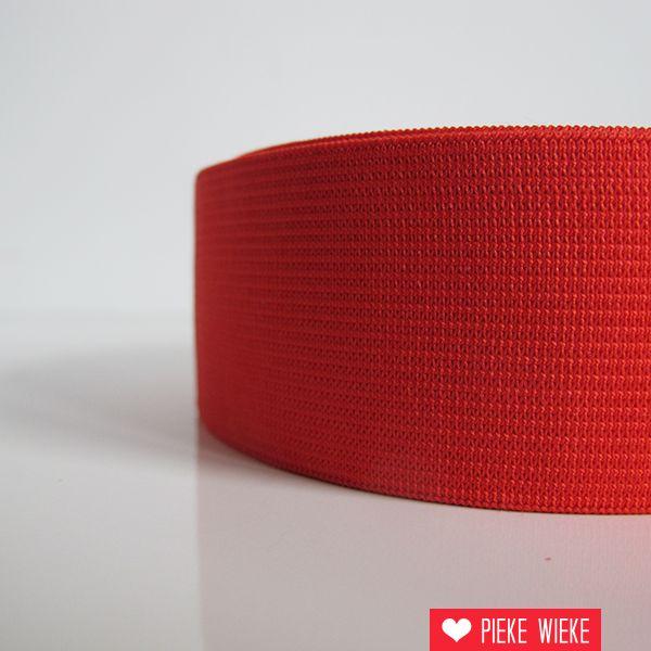 Elastiek rood 40mm