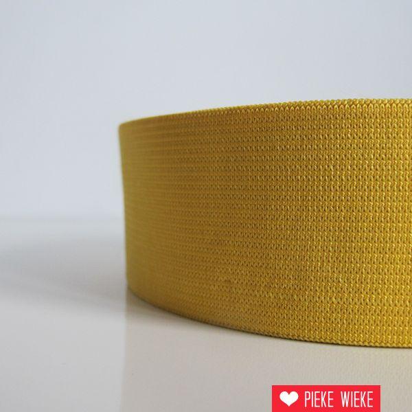 Elastiek geel 40mm