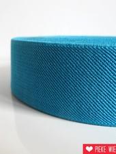 Elastiek schuin geweven fel blauw 40mm