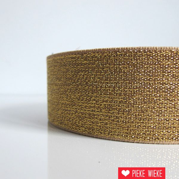 Elastiek goud 40mm extra dik
