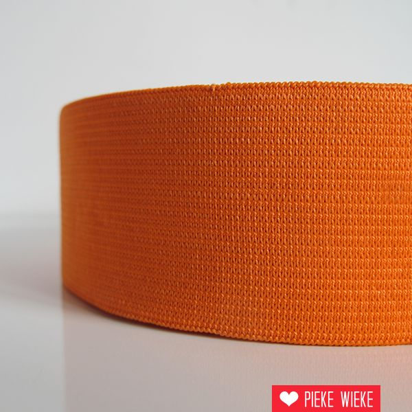 Elastiek oranje 40mm